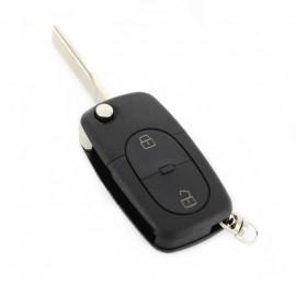 Audi - Carcasã cheie tip briceag, 2+1 butoane, tip mare, cu buton panicã, pt. baterie 2032