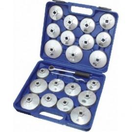 Set capace aluminiu pentru filtre ulei 23 piese