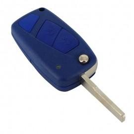 Fiat - Carcasã cheie tip briceag, 2 butoane, albastru