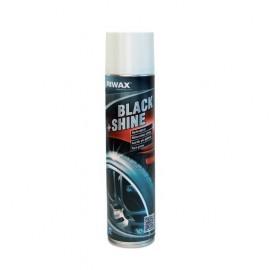 03395-2 Soluþie pentru cauciuc, Riwax Black & Shine 400 ml