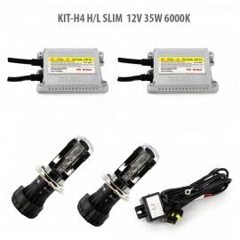 H4 H/L SLIM 12V 35W 6000K