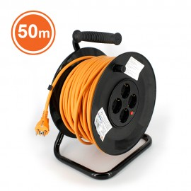 TAMBUR CABLU 4x cu protecþie, cordon HO5VV-F 3G1.5, 50m, orange