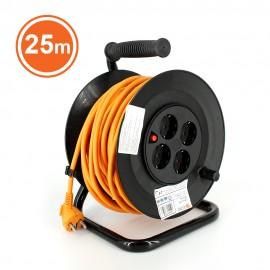 TAMBUR CABLU 4x cu protecþie, cordon HO5VV-F 3G1.5, 25m, orange