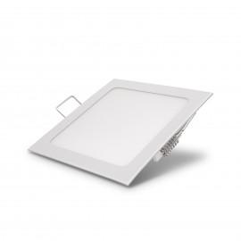 Lampã LED incastrabilã, 12 W, alb cald, model pãtrat