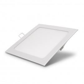 Lampã LED incastrabilã, 18 W, alb rece, model pãtrat