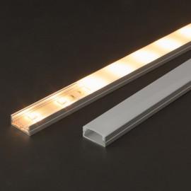 Profil aluminiu pt. benzi LED, 23x10 mm, 2m