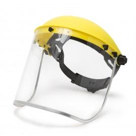 Ecran de protecþie facialã integralã din plexi ºi banderolã de cap.