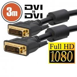 Cablu DVI Dual-link • 3 mcu conectoare placate cu aur