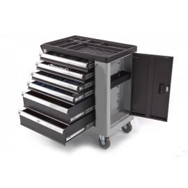 Dulap metalic 6 sertare pentru scule echipat (245 piese)