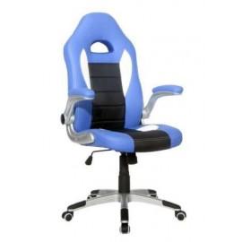 Scaun birou directorial ergonomic gaming Racing Albastru